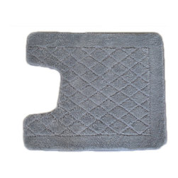 EverRouge - Solid Grey Memory Foam Contour Bath Mat - Make your bathroom feel more like a spa with this memory foam bath rug. The gray tone and subtle pattern blend easily with your existing decor. Featuring plush memory foam construction,this rug cushions your feet,taking the bite out of tile floors.