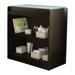 South Shore - South Shore Libra Changing Table Chocolate - South Shore - Baby Changing Tables - 3159334 - This Espresso Changing Table embodies efficiency in simplicity. Its rounded lines and front panel makes it perfectly safe for your baby. It offers 2 open storage spaces to have an easy access to everything! It meets or exceeds all US Consumer Product Safety Commission Standards and conforms to ASTM standards as well (ASTM F2388).