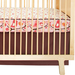"""Skip Hop - Skip Hop Complete Sheet Bedding Linen Crib Skirt Chocolate - Final Sale - Skip Hop's understated linen crib skirt provides the perfect finishing touch to adorable nursery bedding designs. Fashioned in solid chocolate brown, the skirt's clean lines and classic look coordinate easily and beautifully with a variety of bedding styles. Made from 55% linen and 45% cotton. Fits a standard crib. 28""""W x 52""""H. 15"""" drop."""