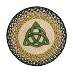 Earth Rugs - CH-116 Irish Knot Round Chair Pad 15.5in. - Irish Knot Round Chair Pad 15.5 in.