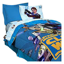 Jay Franco and Sons - Star Wars Clone Wars Full-Double Bedding Sheet Set - Features: