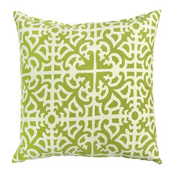 None - Fern Grass Outdoor Accent Pillows (Set of Two) - Add a touch of contemporary style and comfort to your outdoor furnishings with these accent pillows. These pillows are overstuffed with a soft 100-percent polyester fill and have a durable weather resistant and UV protected cover.
