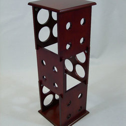 Proman Products - Fuji 3 Layer Wine Rack - Fuji 3 layer wine rack, hold 12 bottles, mahogany finish, middle section can be removed .
