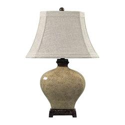 Dimond Lighting - Dimond Lighting 113-1132 Normandie Distressed Floral Glaze Table Lamp - Dimond Lighting 113-1132 Normandie Distressed Floral Glaze Table Lamp