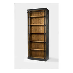 Four Hands - Ivy Bookcase - Balancing dramatic scale with flea marketing-find design, the Irondale Collection offers storage solutions embellished with iron and brass details that resemble libraries of the 1940's and provide smart and stylish organization for any room. This item comes standard with free in-home delivery.