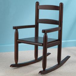 KidKraft - 2-Slat Rocking Chair - Espresso - 2-Slat Rocking Chair - Espresso