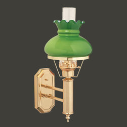 shade cord operated this wall sconce measures 16 1 2 inch high