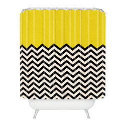 DENY Designs - Bianca Green Follow The Sun Shower Curtain - Who says bathrooms can't be fun? To get the most bang for your buck, start with an artistic, inventive shower curtain. We've got endless options that will really make your bathroom pop. Heck, your guests may start spending a little extra time in there because of it!