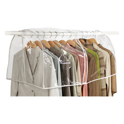 Richards Homewares - Richards Homewares Clear Vinyl Closet Cover - This vinyl garment cover hangs over your actual closet rod to allow for 36 inches of clothing to be protected. The vinyl material provides full visibility while protecting your wardrobe from dust,lint,and other air-borne debris.