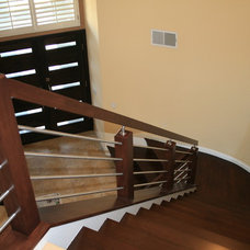 Contemporary Staircase by Beach City Stairs