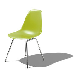Herman Miller - Herman Miller Eames Molded Plastic Side Chair | Smart Furniture - Honor the famed Eames-molded chair — not only for its artful conception — but also because it is astonishingly comfortable to sit in. The rounded shell perfectly encases your body and the high, flexible back allows you to settle in and relax for long periods of time.