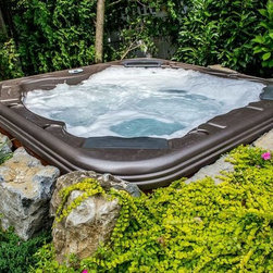 Bullfrog Spas sold by Brown's Pools & Spas - Bullfrog Spas- Custom built, custom design and ready to place in your backyard setting.