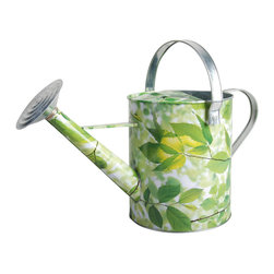 Esschert Design - Elm Print Watering Can - 12L Elm Design Garden pail. Sturdy and beautiful, a welcome addition to any garden.  Matches perfectly with item ED0101 Watering Can