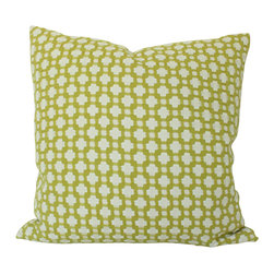 The Pillow Studio - Designer Chartreuse Woven Betwixt Schumacher Pillow Cover - This textured chartreuse pillow will become a subtle focal point to any room; it has a great geometric design and adds just the right amount of color.
