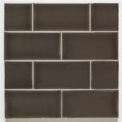 H Line- 3x6 Glossy Subway Tile- Cafe - 10 Square Feet - H Line- 3x6 Glossy Subway Tile- Cafe