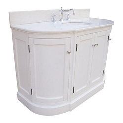 Kitchen Bath Collection - Montage 48-in Bath Vanity (White/White) - This bathroom vanity set by ...