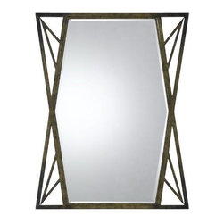 CAL Lighting - Cal Lighting Pavia Metal Mirror with Beveled Glass - Pavia Metal Beveled Mirror