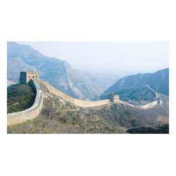 York Wallcoverings - Great Wall China Giant Prepasted Wallpaper Accent Mural - Features: