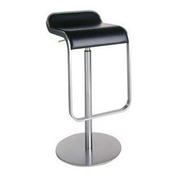 LEM Piston Stool - Leather Seat