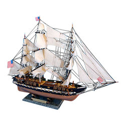 "Handcrafted Model Ships - USS Constitution 30"" - Model Tall Ship -Tall Ship Model - Sold Fully Assembled Ready for Immediate Display - Not a Model Ship kit. Fine craftsmanship and attention to detail highlight this scale tall model ship replica of ""Old Ironsides"", the US Navy's oldest and most famous fighting tall ship. Whether seated upon a shelf, desk or table, these USS Constitution tall ship models proudly displays their exquisitely-crafted features and indomitable historic and patriotic spirit. 30"" Long x 9"" Wide x 23"" High (1:82 scale)."
