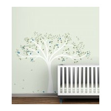 Littlelion Studio Birds Headboard Twin Size Wall Decal - fawn&forest