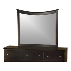 Atlantic Furniture - Atlantic Furniture Miami Landscape Mirror-Espresso - Atlantic Furniture - Mirrors - C74001