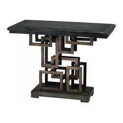 "Joshua Marshal - Rustic Gold 29.5"" Optic Table - Rustic Gold 29.5"" Optic Table"