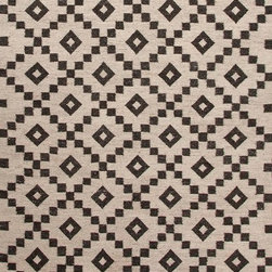 Jaipur Rugs - Flat-Weave Durable Wool Ivory/Black Area Rug (4 x 6) - Constructed with un-dyed wool with a flat-weave construction, using traditional Scandinavian motifs this rug combines a modern feel with age old tradition.
