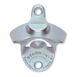 """Bottle Cap Mount STARR """"X"""" Bottle Opener - This is a true classic: the Starr brand wall-mounted bottle opener. Never search for your handheld one again."""