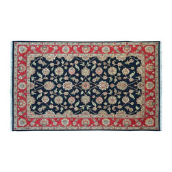 1800-Get-A-Rug - Oriental Rug Charcoal Black Rajasthan Hand Knotted Rug Sh9118 - About Rajasthan Collection