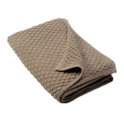Sefte - Sefte Kantu Woven Mocha Throw Blanket - Inspired by a traditional Peruvian basket weave technique, the mocha Kantu throw blanket is handmade with heathered yarns to create rich visual texture. Embodying a contemporary minimalism, the Sefte design is handmade by artisans with a focus on luxury and sustainability. Available in standard and large sizes; 100% baby alpaca (the finest shearing from an adult), renowned for its ultra soft hand; Lightweight structure is warmer than wool; Silky and soft to the touch; Sefte follows Fairtrade practices; Environmentally-friendly, oeko-tex standard dyes; Dry clean only