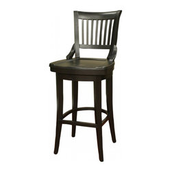 American Heritage - American Heritage Liberty 26 Inch Counter Height Stool in Black - One our all time favorite stools. This Liberty stool is a perfect blend of craftsmanship and comfort. The mortise and tenon construction means it'll last. The scooped out wood seat means it offers great comfort. The swivel seat is an added bonus. What's included: Counter Height Stool (1).