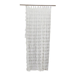 Couture Dreams - Couture Dreams Chichi Petal Shower Curtain - Couture Dreams Chichi Shower Curtains are sophisticated and romantic yet playful and casual.