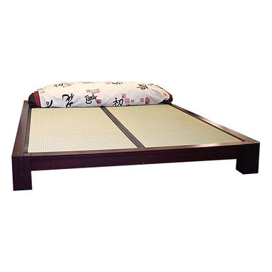 Haiku Designs - Tatami Platform Bed, Honey Oak, Twin - Second image shows color option being purchased.