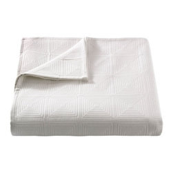 DwellStudio - On Sale Pyramids Matelasse Coverlet in Pearl - Full/Queen - On Sale Pyramids Matelasse Coverlet in Pearl Full Queen