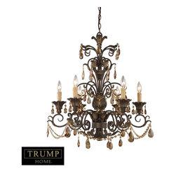Trump Home by ELK 3344/6 Rochelle Mahogany Ironwork 6 Light Chandelier -