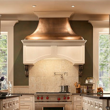 Mediterranean Kitchen Hoods And Vents by Heart of the Home Kitchens LLC