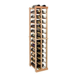 Wine Cellar Innovations - Vintner 4 ft. 2-Column Individual Wine Rack (Rustic Pine - Light Stain) - Choose Wood Type and Stain: Rustic Pine - Light StainBottle capacity: 26. Two column wine rack. Versatile wine racking. Custom and organized look. Beveled and rounded edges. Ensures wine labels will not tear when the bottles are removed. Can accommodate just about any ceiling height. Optional base platform: 9.69 in. W x 13.38 in. D x 3.81 in. H (5 lbs.). Wine rack: 9.69 in. W x 13.5 in. D x 47.88 in. H (3 lbs.). Vintner collection. Made in USA. Warranty. Assembly Instructions. Rack should be attached to a wall to prevent wobble