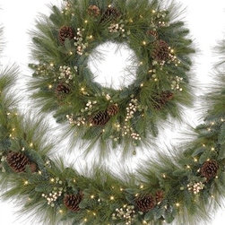 Harvest Pine Wreath and Garland - THE VERSATILE GLAMOR OF THE HARVEST PINE WREATH AND GARLAND