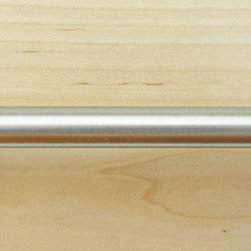 Cosmopolitan Collection Bar Pull, brushed nickel - We carry many different types of hardware, including curtain rods and finials, hand made glass and ceramic knobs and pulls, and commercial cabinet hardware.  We proudly represent Hafele cabinetry hardware products.  With so many different styles to choose from, there's something to satisfy everyone!