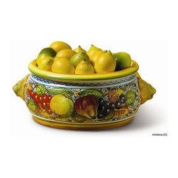 Artistica - Hand Made in Italy - Frutta: Round Chachepot Leoni Bel - Frutta Collection: