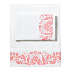 Odette Sheet Set, Watermelon - These are lovely watermelon-hued sheets.