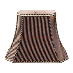 """""""Royal Designs, Inc"""" - Rectangle Bell w Cut Corners Designer Lampshade - """"This Rectangle Bell w Cut Corners Designer Lampshade is a part of Royal Designs, Inc. Timeless Designer Shade Collection and is perfect for anyone who is looking for an elegant yet detailed lampshade. Royal Designs has been in the lampshade business since 1993 with their multiple shade lines that exemplify handcrafted quality and value.."""