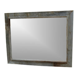 MyBarnwoodFrames - Custom Made Rustic Mirrors 30x42 Western Rustic Style - Custom  Made  Rustic  Mirrors          Custom  Made  Rustic  Mirrors  used  to  be  difficult  to  find.  Not  any  more.  MyBarnwoodFrames  handcrafts  dozens  of  sizes  and  styles.  All  you  need  to  do  is  contact  us  and  let  us  know  what  size  and  style  you  want.  The  beautiful  custom  made  rustic  mirror  shown  here  is  a  customer  favorite. Our  Western  Rustic  mirror  looks  great  as  part  of  your  cabin  or  lodge  decor,  or  as  a  bath  mirror.  We  begin  with  aged  planks  of  authentic  barnwood,  then  handcraft  them  to  your  specifications.  Many  of  our  picture  frame  styles  are  also  available  as  mirrors.          One  of  the  great  things  about  a  mirror  made  of  aged  barnwood  is  that  if  you  are  willing  to  add  a  little  bit  of  paint,  your  color  options  are  endless.  Our  rustic  mirrors  can  be  crafted  to  fit  your  individual  needs.  If  you  have  questions  about  this  mirror,  or  would  like  a  quote  on  another  size,  please  call  us  toll  free  at  888-OLD-BARN  (888-653-2276).          Product  description:                  Each custom  made  rustic mirror is  handcrafted  from  authentic  barnwood              42x30  exterior  dimensions              36x24 mirror              Frame  width  is  3  inches  with  a  .75  inch  inner  border
