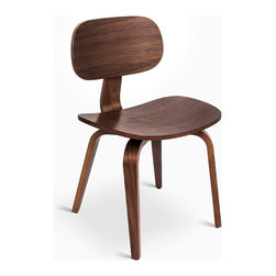 Gus Modern - Thompson Chair SE by Gus Modern - Walnut - Based on the iconic shape and proportions of our original Thompson Chair, the Thompson Chair SE features a molded plywood seat, back, and legs, all finished in warm Walnut or Natural Oak. It works well as a dining chair, or as standalone accent seating.