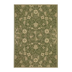 """Capel - Contemporary Elsinore-Garden Maze 7'10""""x11' Rectangle Fern Green Area Rug - The Elsinore-Garden Maze area rug Collection offers an affordable assortment of Contemporary stylings. Elsinore-Garden Maze features a blend of natural Poppy color. Machine Made of 100% Olefin the Elsinore-Garden Maze Collection is an intriguing compliment to any decor."""