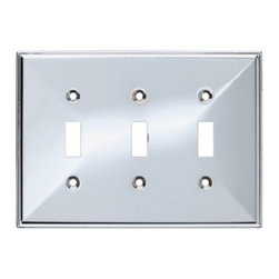 Liberty Hardware - Liberty Hardware 135881 Beverly WP Collection 6.77 Inch Switch Plate - Polished - A simple change can make a huge impact on the look and feel of any room. Change out your old wall plates and give any room a brand new feel. Experience the look of a quality Liberty Hardware wall plate.. Width - 6.77 Inch,Height - 4.9 Inch,Projection - 0.3 Inch,Finish - Polished Chrome,Weight - 0.31 Lbs