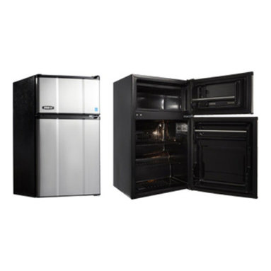 MicroFridge - MicroFridge 20047 2.9 cu. ft. Refrigerator / Freezer - Stainless Steel - 2.9MFRS - Shop for Compact from Hayneedle.com! Simple and elegant the MicroFridge 20047 2.9 cu. ft. Refrigerator / Freezer - Stainless Steel comes complete with a separate freezer for your convenience. Featuring a stay-cool glacier white interior two wire racks door shelves bottle storage a zero-degree freezer and auto-defrost this refrigerator is ideal for the office game rooms and dorm rooms.About AvantiAvanti has been a leader in the Consumer Appliance Industry for over 30 years. They specialize in compact to full-sized refrigerators upright and chest freezers wine coolers water dispensers and more. Avanti's reputation has been built by providing quality products at a great value. They are known for our compact refrigerators for the home office and dormitory. Avanti compact refrigerators have become popular with hotel chains nationwide as in-room refrigerators and refreshment centers.