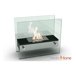 Moda Flame - Moda Flame Naples H Tabletop Firepit Bio-Ethanol Ventless Fireplace Black - Moda Flame Naples H Tabletop Firepit Bio-Ethanol Ventless Fireplace Black