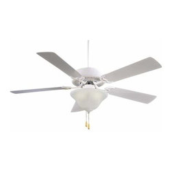 Minka Aire - Minka Aire Contractor Unipack ENERGY STAR Ceiling Fan in Shell White - Minka Aire Contractor Unipack ENERGY STAR Model F648-SWH in Shell White with Shell White Finished Blades.
